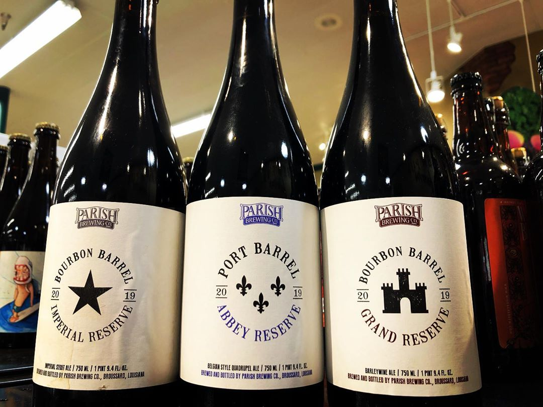 These beauties from 2019 Grand Reserve day @parishbrewingco just landed at our Perkins Rd location!…