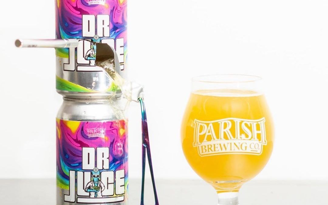 @parishbrewingco new year round IPA, Dr. Juice, will be available at our Perkins Rd location…