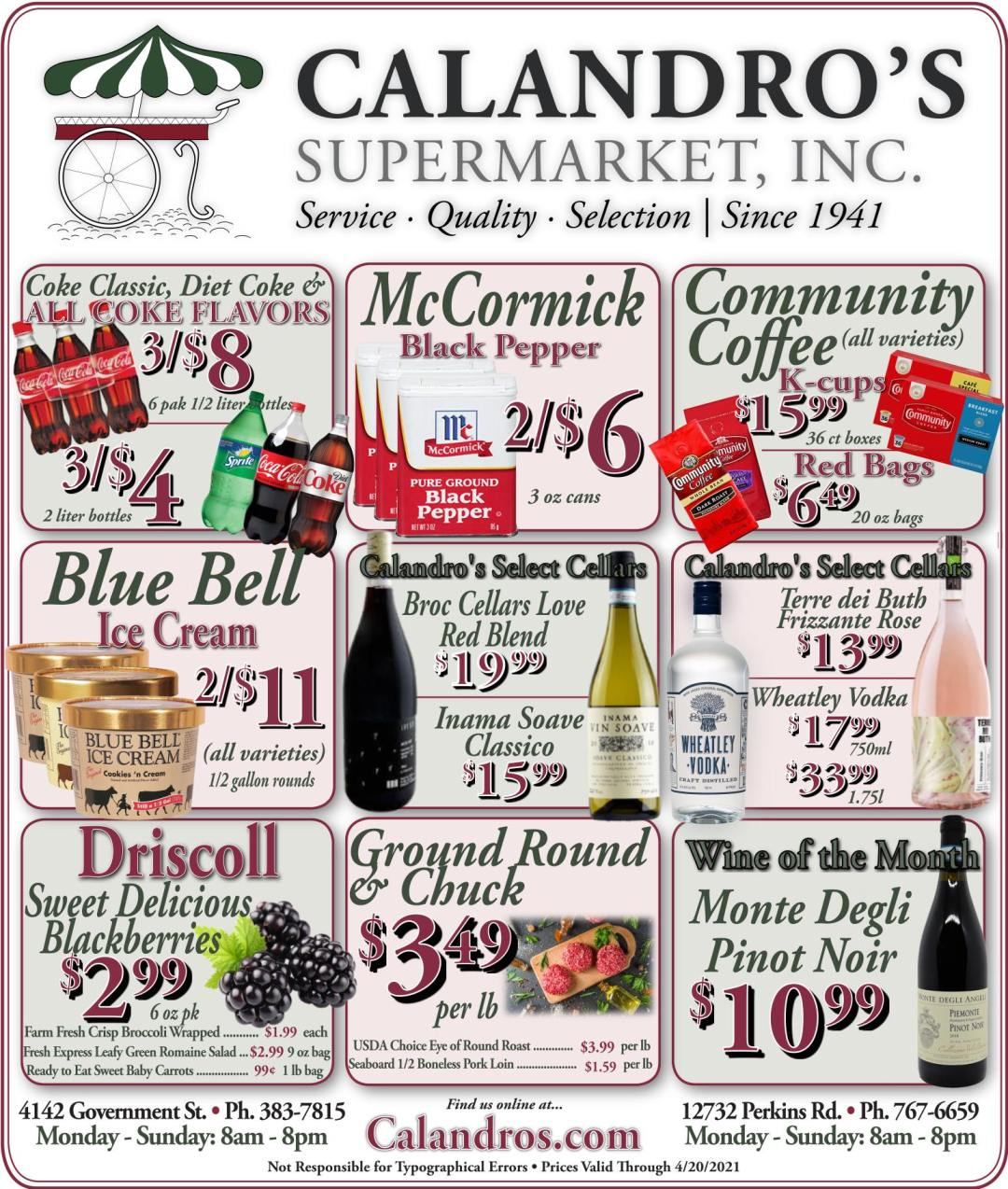 Calandro's Fabulous Finds & Deals for This Week! (4/15/2021 – 4/20/2021)