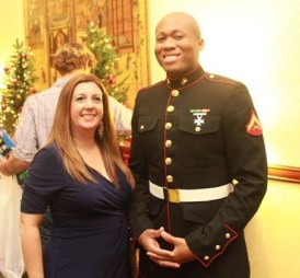 Barbara M and Toys for Tots Marine