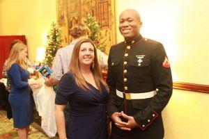 Barbara M with Marine at 2013 CALA Christmas Party