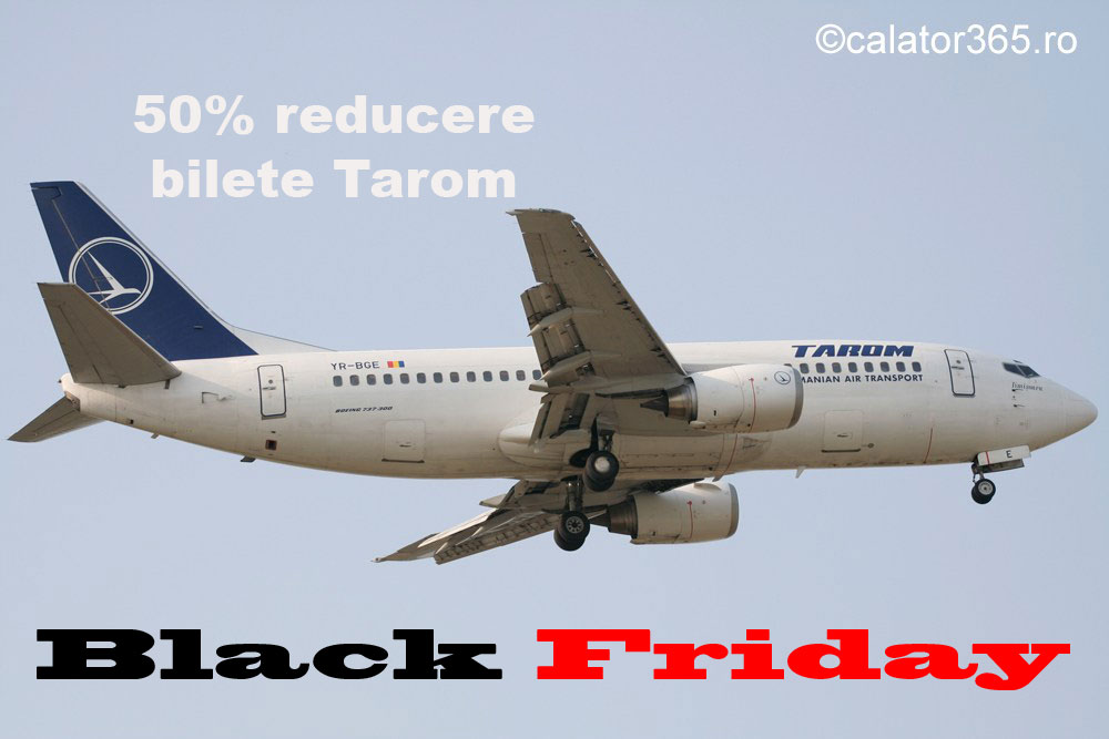 Emag vinde bilete avion Tarom de Black Friday