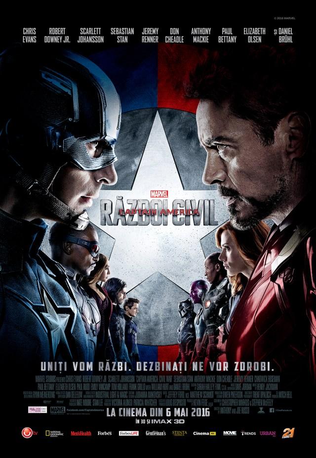 Afis Captain America Razboi Civil