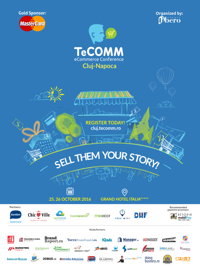 TeCOMM 2016 Sell them your story Afiș