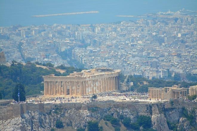 Acropole vazut pe pe Lycabettus