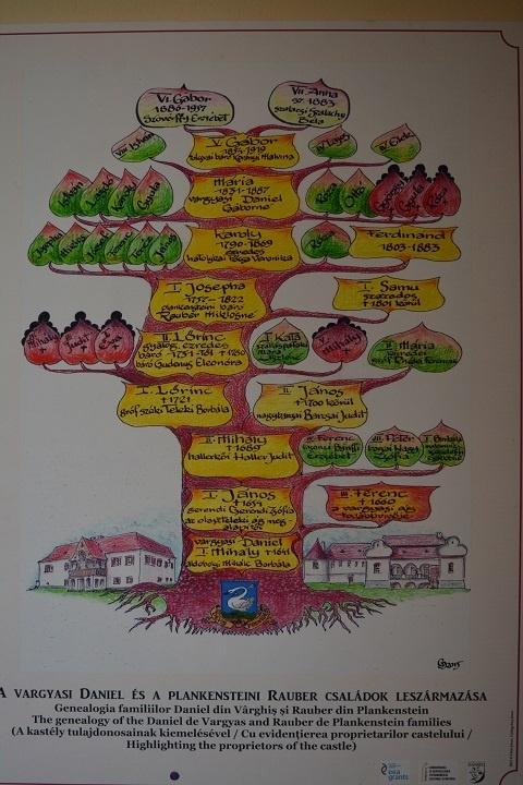 arborele genealogic al familiei daniel