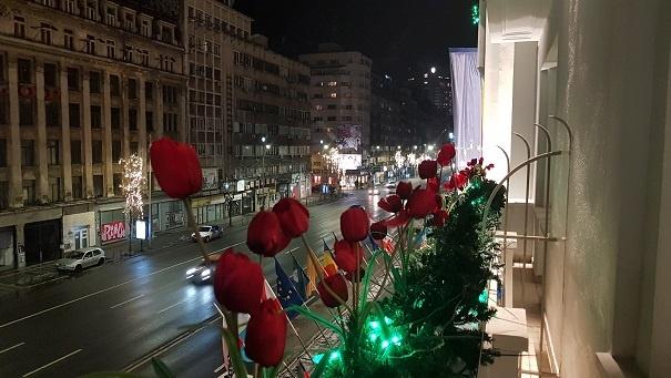Bulevardul Magheru vazut din hotel Lido