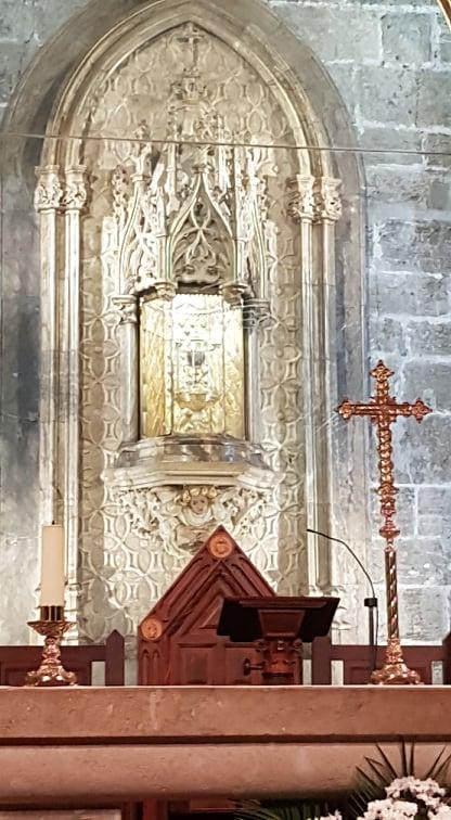 cutia unde se afla sfantul pocal de la catedrala din valencia