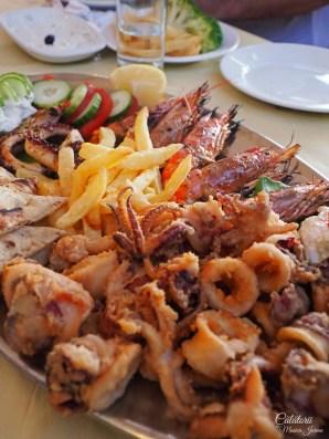 Platou fructe de mare in Corfu