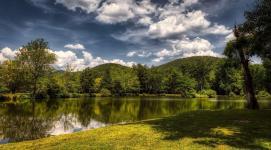 Spring Time Lake setting