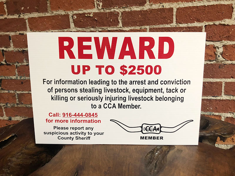 CCA Reward Signs