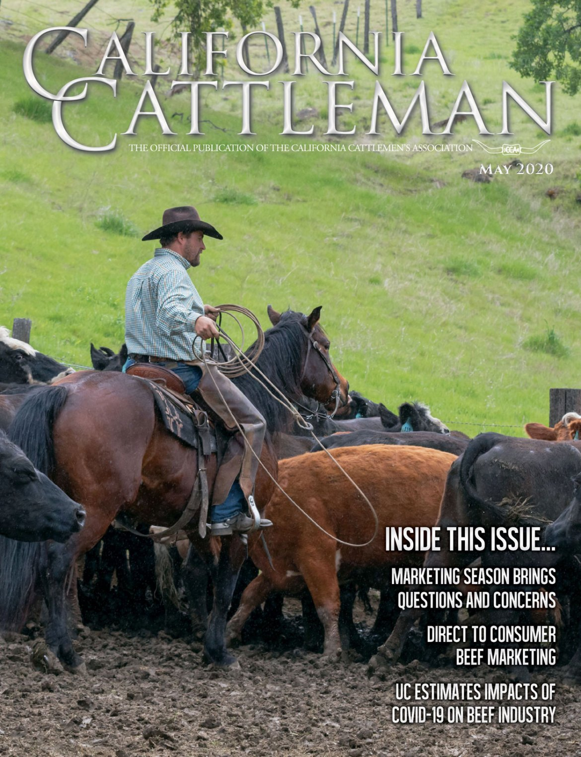 May CCA Magazine cover of cowboy