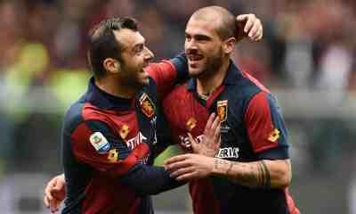 Esultanza gol Sturaro Pandev Genoa