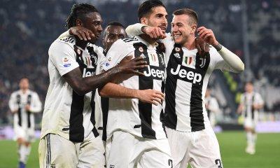 esultanza gol Emre Can Kean Bernardeschi Juventus