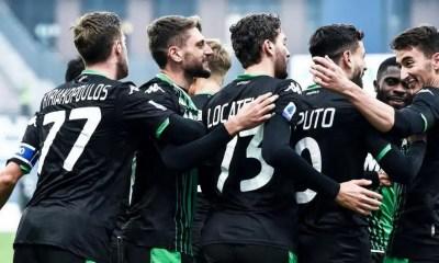 esultanza giocatori Sassuolo
