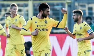 esultanza gol Samuel Di Carmine Verona