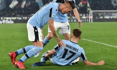 Esultanza Immobile Milinkovic-Savic Lazio