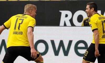 esultanza gol Raphal Guerreiro Haaland Borussia Dortmund
