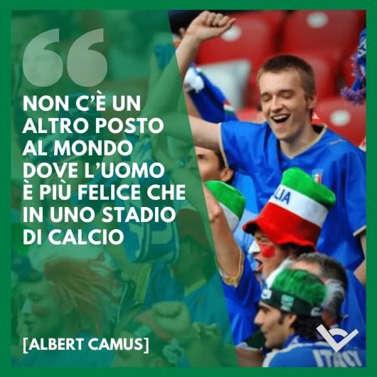 tifoso stadio frasi calcio Albert Camus