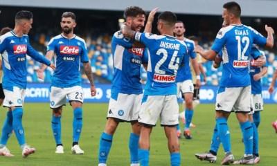 Esultanza giocatori Napoli