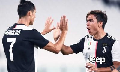 Esultanza gol Ronaldo Dybala Juventus