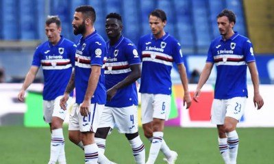 delusione giocatori Sampdoria