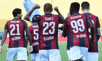 Danilo Barrow Soriano esultanza Bologna
