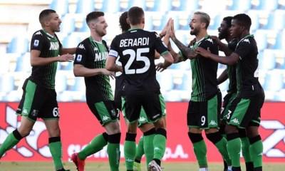 Esultanza gol giocatori Sassuolo