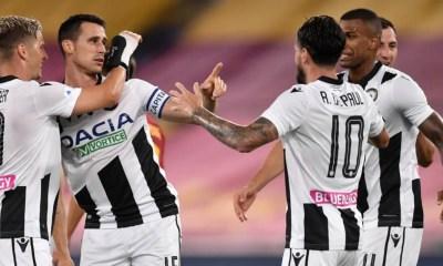 Lasagna De Paul esultanga giocatori Udinese