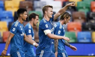 esultanza gol Matthijs De Ligt Juventus