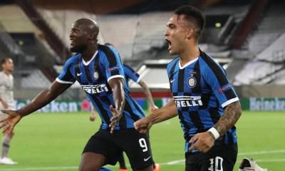 esultanza gol Lautaro Martinez Lukaku Inter