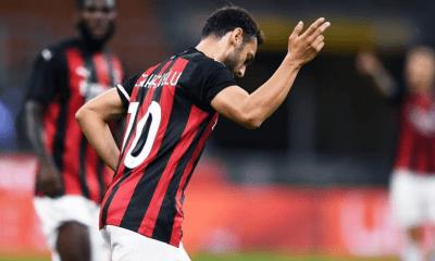 esultanza gol Hakan Calhanoglu Milan