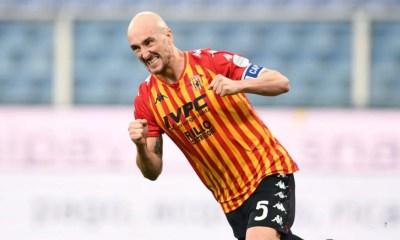 esultanza gol Luca Caldirola Benevento