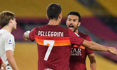 Esultanza Pellegrini Pedro Roma
