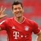 Esultanza tripletta Lewandowski Bayern