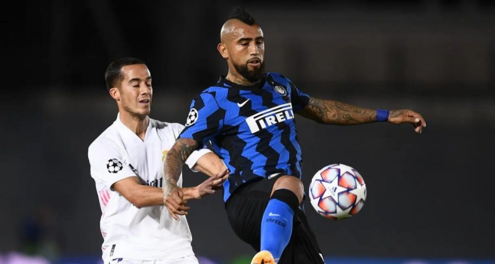 Arturo Vidal-Lucas Vazquez Real Madrid-Inter