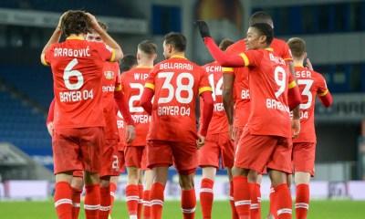 Esultanza giocatori Bayer Leverkusen Bundesliga