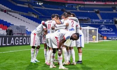 Esultanza giocatori Lione Ligue 1