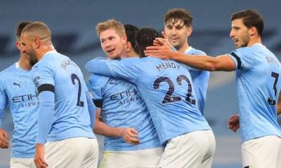 Esultanza giocatori Manchester City Premier League