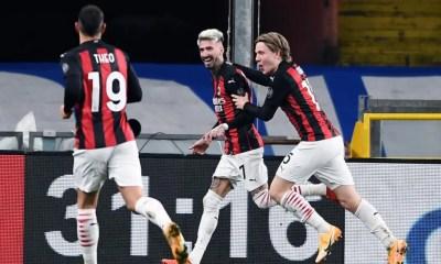 esultanza gol Samuel Castillejo Hauge Milan