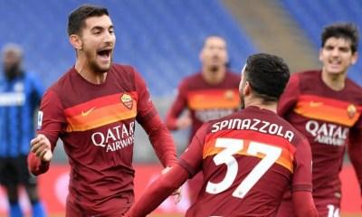 Esultanza Pellegrini Spinazzola Roma