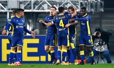 Esultanza gol giocatori Verona