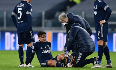 Infortunio Dybala Juventus