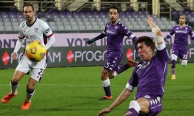 gol Vlahovic Fiorentina-Cagliari