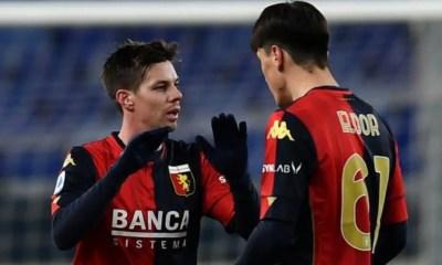 esultanza gol Miha Zajc Genoa