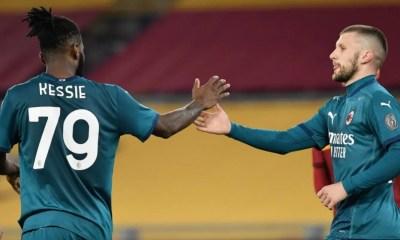 Esultanza gol Kessie Rebic Milan