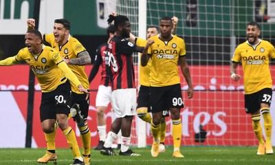 Esultanza gol Becao Milan-Udinese