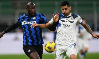 Romelu Lukaku-Cristian Romero Inter-Atalanta