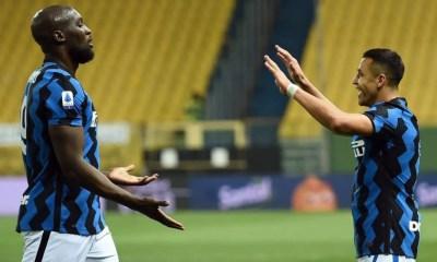 esultanza gol Alexis Sanchez Lukaku Inter