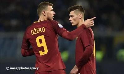 Edin-Dzeko-Patrick-Schick-Sampdoria-Roma